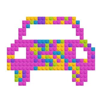 Lego, Car, Shape, Toys, Construction, Lego Pieces