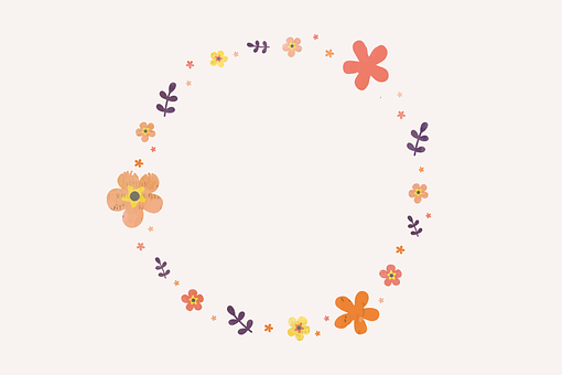 Wreath, Flowers, Frame, Wallpaper, Background, Colorful