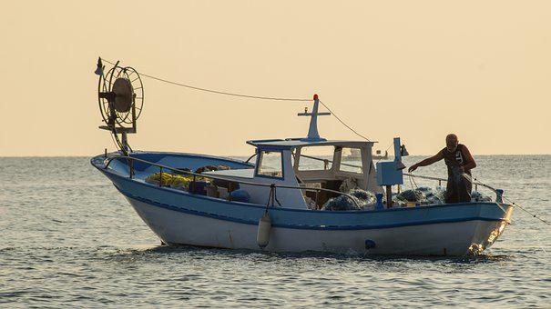 Fishing Boat, Fisherman, Sea, Fishing, Ocean, Scenery