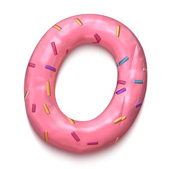 Doughnut, Pink, Dessert, Tasty, Pastry, Icon