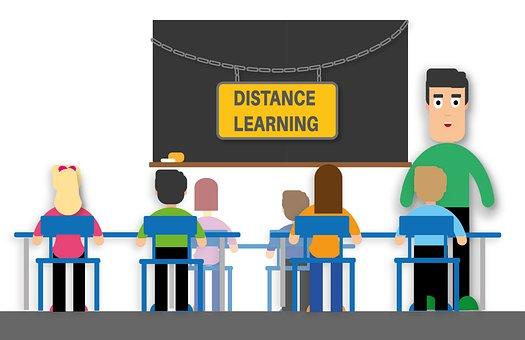 Distance Learning, Teacher, Students, Class, School