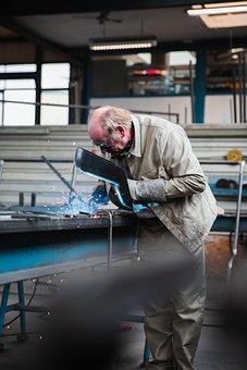 Man, Worker, Welder, Welding, Steel Worker, Workplace