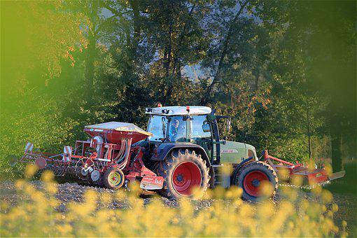 Tractor, Agricultural Machinery, Arable Land, Field