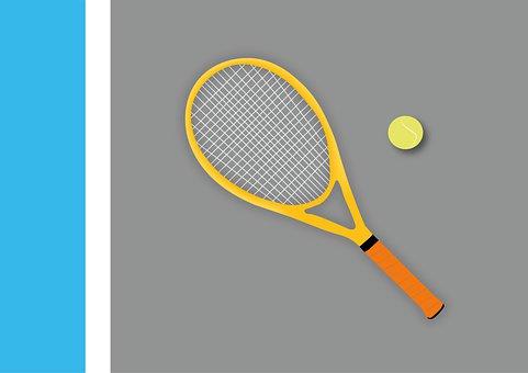 Tennis, Tennis Racket, Ball, Sport, Active, Paint