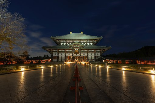 Night View, Building, Todai-ji Temple