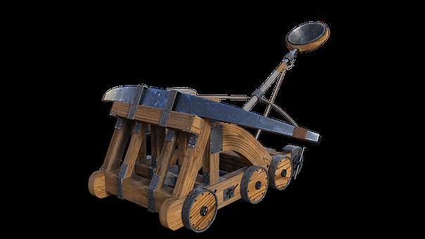 Catapult, Slingshot, Middle Ages, Weapon, War