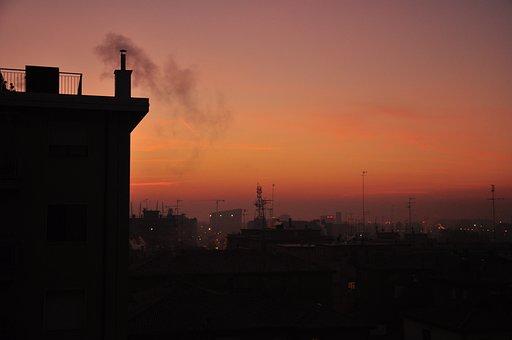 City, Silhouette, Sunset, Buildings, Skyline, Dusk