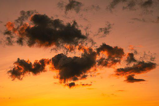 Clouds, Sky, Sunset, Dusk, Twilight, Meteorology