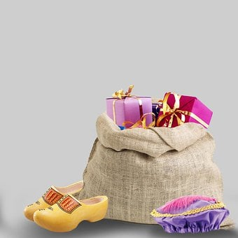 Gifts, Gift Bag, Saint Nicholas, Party, December, Mitre