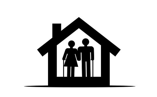 Elderly, Home, Retirement, Icon, Logo, Care, Old