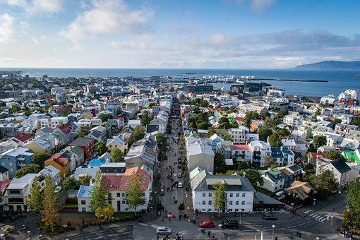 Reykavik, Iceland, City, Downtown, Panorama, Tourism