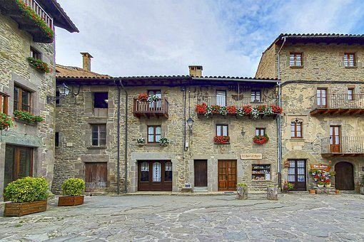 Buildings, Houses, Plaza, Street, Rustic, Architecture