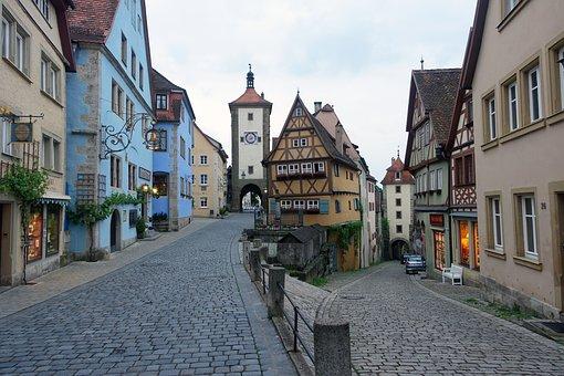 Truss, Buildings, Fachwerkhaus, Streets, Cobblestones