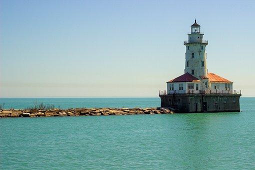 Lighthouse, Tower, Building, Ocean, Coast, Light, House