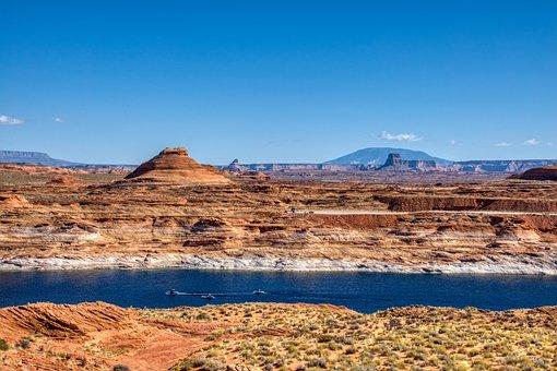 Lake Powell, Lake, Rocks, Water, Desert, Scenic, Nature