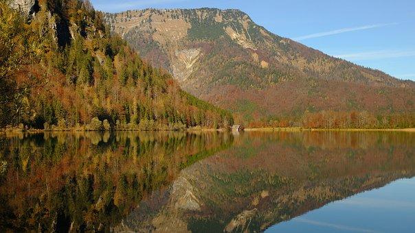 Mountains, Lake, Autumn, Mountain Landscape