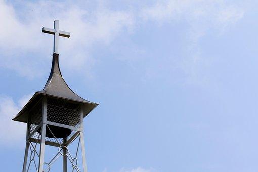 Cross, Church, Bell, Church Bell, Bell Tower, Tower