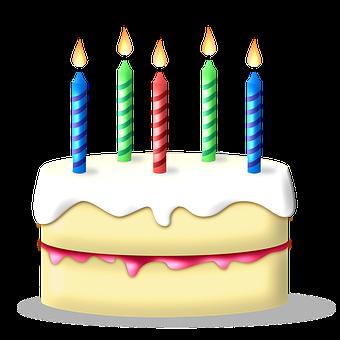 Birthday, Cake, Candles, Birthday Cake