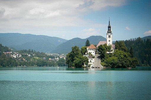 Church, Islet, Lake, Lake Bled, Water, Building, Chapel