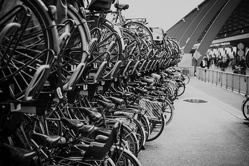 Bikes, Bicycles, City, Urban, The Netherlands, Holland