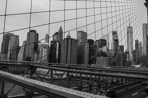 New York, City, Bridge, Buildings, Skyline, Cityscape