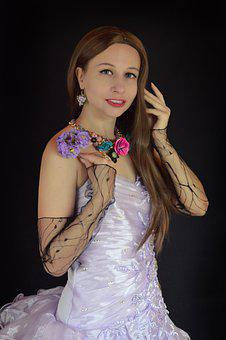 Woman, Princess, Flower, Girl, Dress, Romantic, Classic
