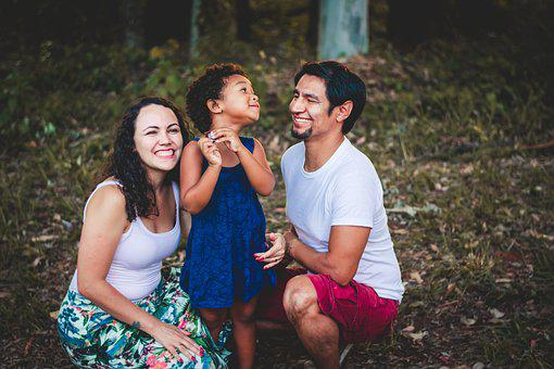 Family, Smile, Together, Happiness, Daughter, Dad, Mom