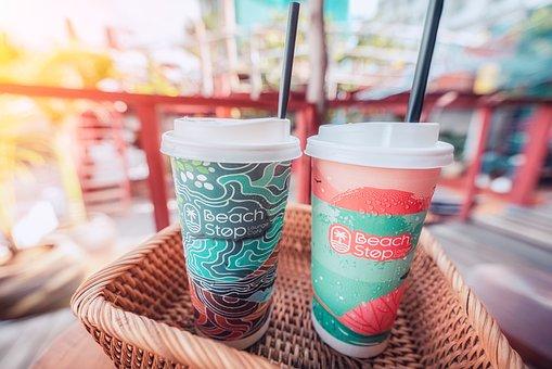 Coffee, Tea, Drink, Energy, Menu, Straws, Refreshments