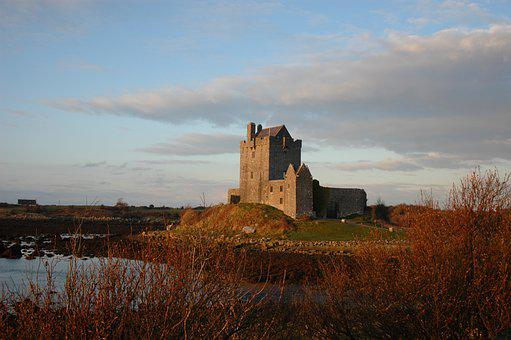 Castle, Fort, Ireland, Irish Castle, Galway, Fortress