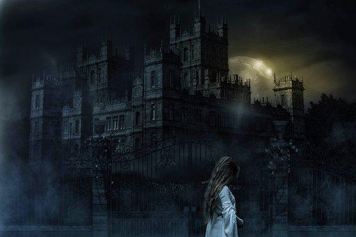 Fantasy, Castle, Woman, Ghost, Mist, Fog, Spirit, Girl