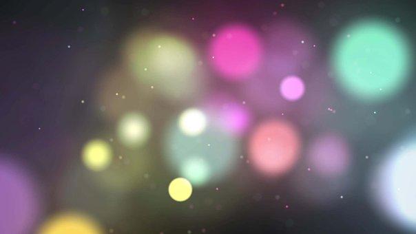 Colorful, Bokeh, Lights, Dots, Circles, Glow, Glowing