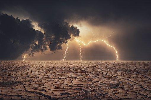 Dry, Land, Lightning, Bolt, Lightning Bolt, Dry Land