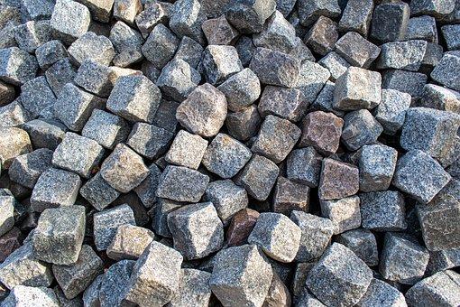 Stone, Granite, Granite Stones, Paving Stones, Material