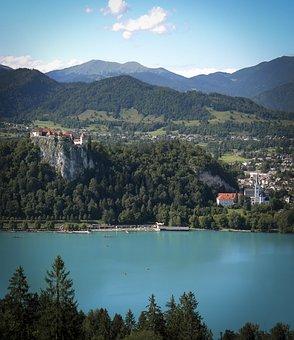 Lake, Mountains, Scenery, Lake Bled, Water