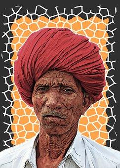 Indian, Man, Male, Turban, Old Man, Indian Man, India
