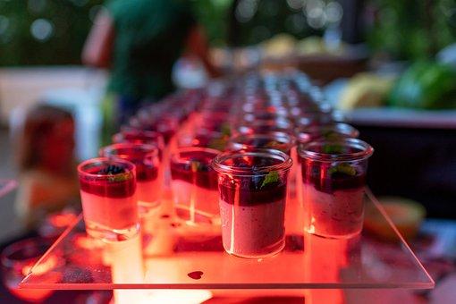 Desserts, Shot Glasses, Sweets, Buffet, Dessert Buffet