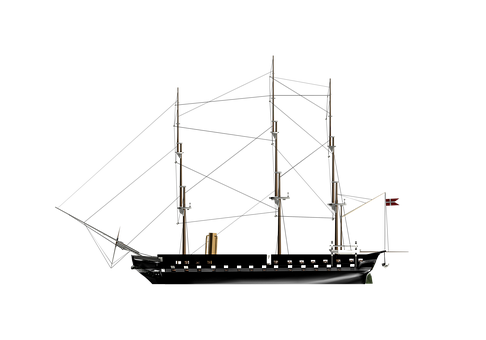 Ship, Sailing Ship, The Structure Of The, 3d Model