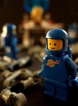 Lego, Figure, Astronaut, Toy, Space, Terminal Blocks
