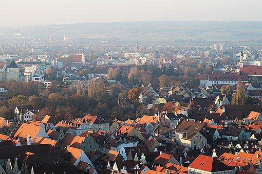 Houses, Buildings, Urban, Aerial, City, Autumn Mood