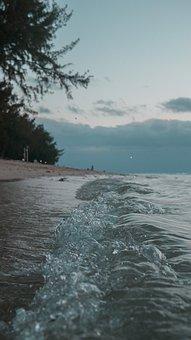 Beach, Sand, Ocean, Waves, Summer, Sunset