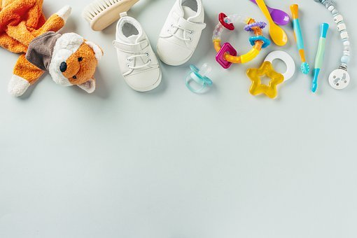 Baby Stuff, Flat Lay, Copy Space, Shoes, White Shoes