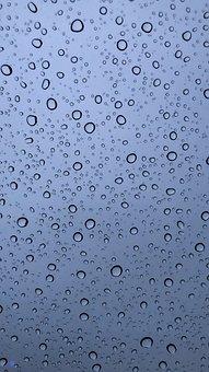 Raindrops, Rain, Window, Surface, Water, Water Droplets