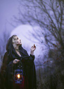 Woman, Lantern, Witch, Witchcraft, Wicca