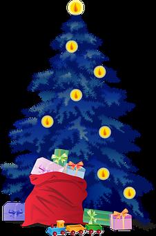 Christmas Tree, Presents, Christmas, Xmas, Gifts