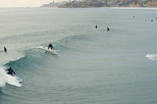 Surf, Surfers, Surfing, Waves, Water, California, Board