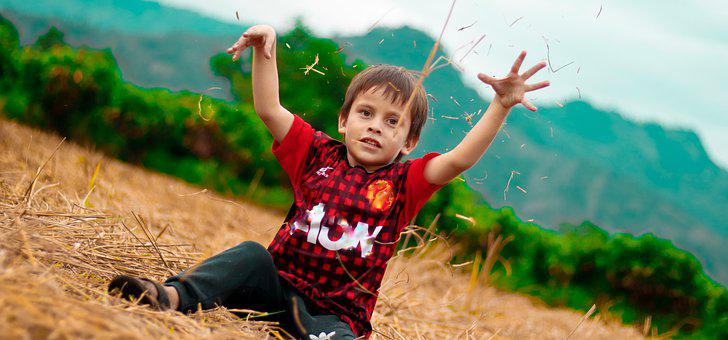 Boy, Child, Kid, Grass, Fun, Childhood, Innocence