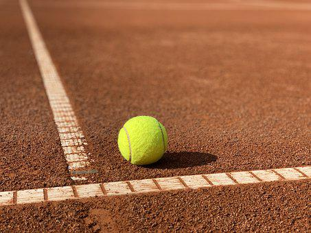 Tennis Ball, Tennis, Court, Sport, Tennis Court, Play