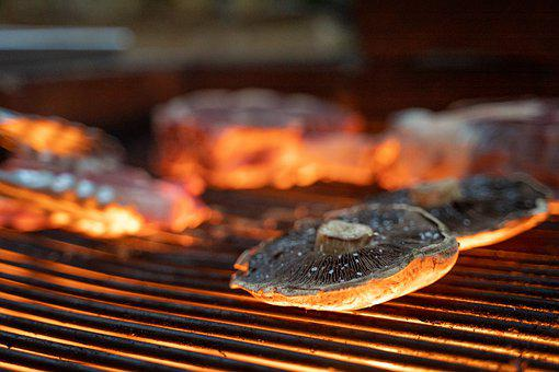 Mushrooms, Grill, Grilling, Grilled Vegetables, Cooking