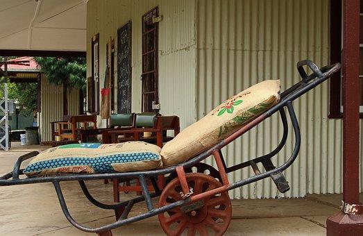 Luggage Trolley, Platform, Travel, Veranda