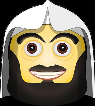 Mufti Smiley, Emoji, Smiley, Emoticon, Mufti, Mullah